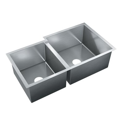 35 x 20 Double Bowl Undermount Kitchen Sink