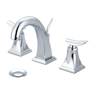 Bathroom Faucet Double Handle with Drain Assembly Finish: Polished Chrome