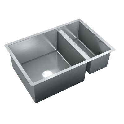 29.5 x 20 Double Bowl Undermount Kitchen Sink