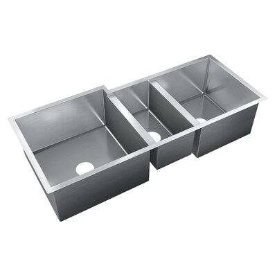 45 x 20 Triple Bowl Undermount Kitchen Sink