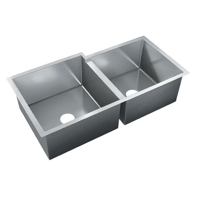 37.5 x 20 Double Bowl Undermount Kitchen Sink