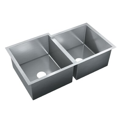 33.5 x 20 Double Bowl Undermount Kitchen Sink