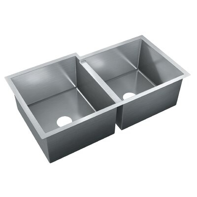 35.5 x 20 Double Bowl Undermount Kitchen Sink