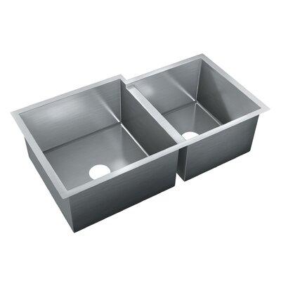 35 x 20 Double Bowl Undermount Kitchen Sink