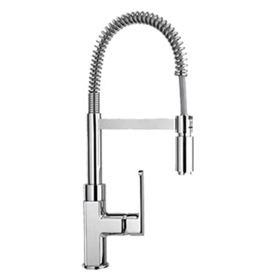 Single Handle Deck Mounted Kitchen Faucet Finish: Polished Chrome