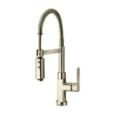 Single Handle Deck Mounted Kitchen Faucet Finish: Brushed Nickel