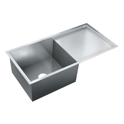 36 x 18 Single Bowl Flush Mount Kitchen Sink