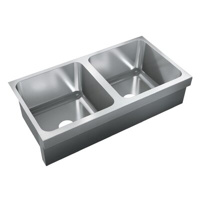36 x 20 Double Bowl Undermount Kitchen Sink