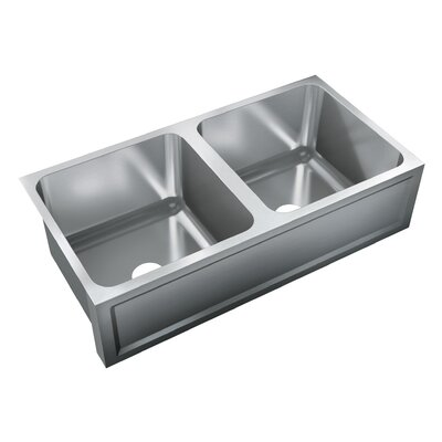 36 x 18.5 Double Bowl Undermount Kitchen Sink