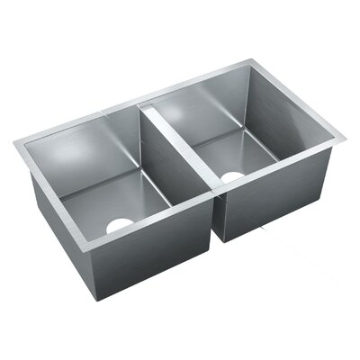31.5 x 18 Double Bowl Undermount Kitchen Sink