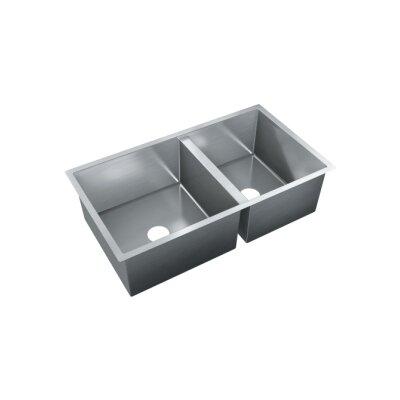 35.5 x 20 Double Bowl Undermount Kitchen Sink