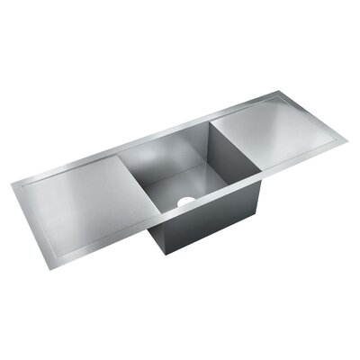 53 x 19 Single Bowl Flush Mount Kitchen Sink