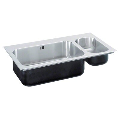 33 x 22 Double Bowl Drop-In Kitchen Sink