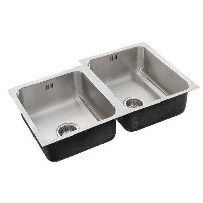 34 x 21 Double Bowl Undermount Kitchen Sink