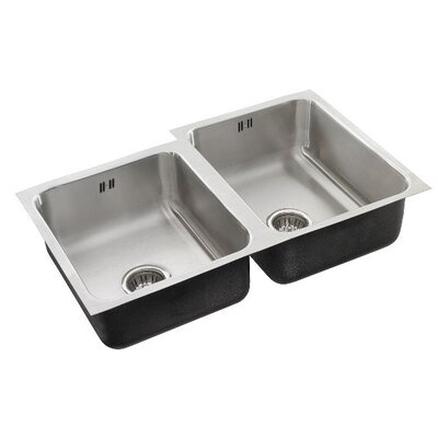 34 x 20 Double Bowl Undermount Kitchen Sink