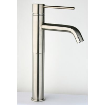 Single Handle Deck Mounted Kitchen Faucet with Fountain Spout Finish: Polished Chrome