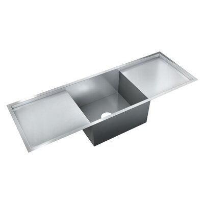 52 x 18 Single Bowl Flush Mount Kitchen Sink