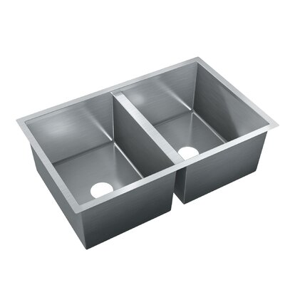 36 x 18 Double Bowl Drop-In Kitchen Sink