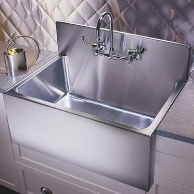 31 x 25 Single Bowl Drop-In Kitchen Sink with Faucet