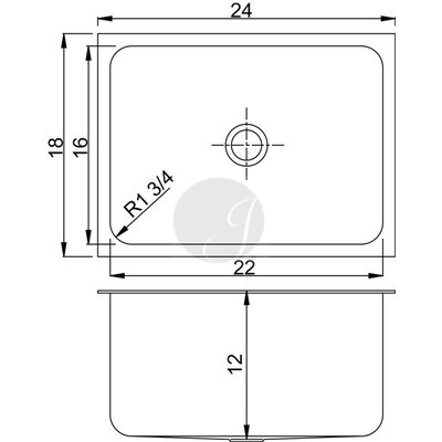 24 L x 18 W Undermount Kitchen Sink