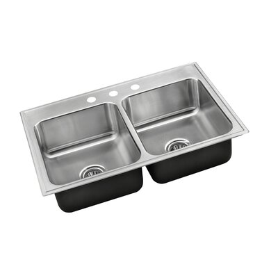 33 L x 22 W Drop-In Kitchen Sink