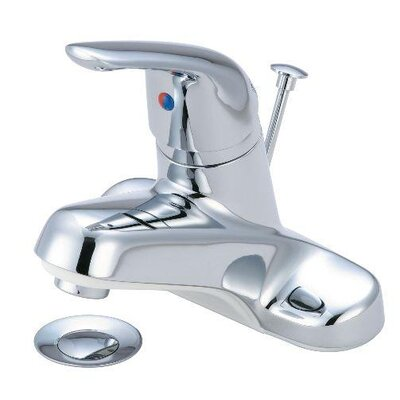 Centerset Single Handle Bathroom Faucet with Pop-Up Drain