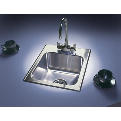 25 L x 21 W Drop-In Kitchen Sink Faucet Drillings: 1 Hole