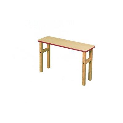 18.75 H x 31 W Desk Hutch Surface Color: Maple, Edge Trim Color: Red