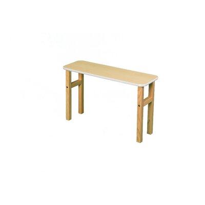 18.75 H x 31 W Desk Hutch Surface Color: Maple, Edge Trim Color: White