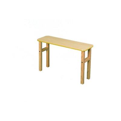 18.75 H x 31 W Desk Hutch Surface Color: Maple, Edge Trim Color: Yellow