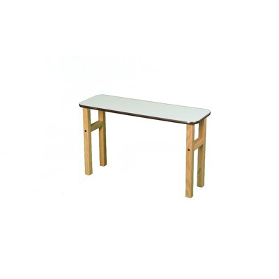 18.75 H x 31 W Desk Hutch Surface Color: White, Edge Trim Color: Brown