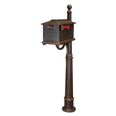 Kingston Mailbox with Post Included Color: Copper
