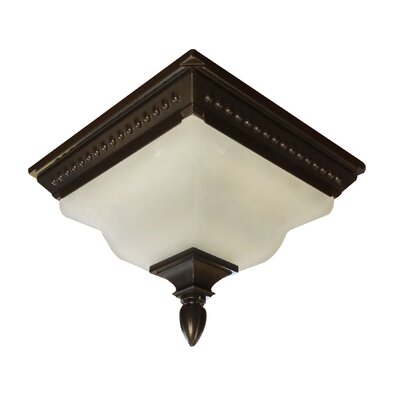 Abington 2-Light Flush Mount Finish: Oil Rubbed Bronze