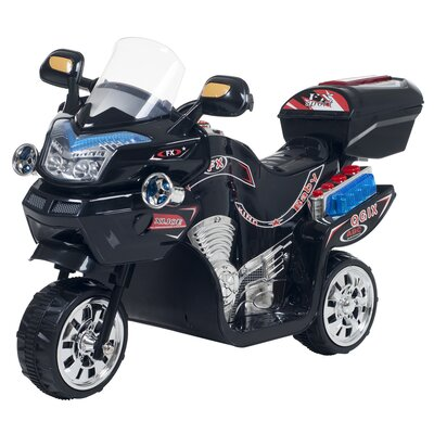 3 Wheel Battery Powered Motorcycle Color: Black 80-109K