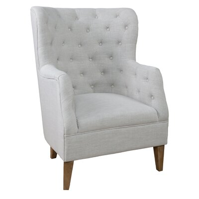 Turkish Tufted Armchair Upholstery: French Beige