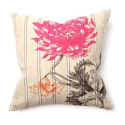 Provence Arcadia Flower Pillow in Pink and Orange