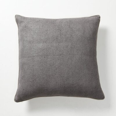 Illusion Textured Willow Basket Weave Pillow in Ash