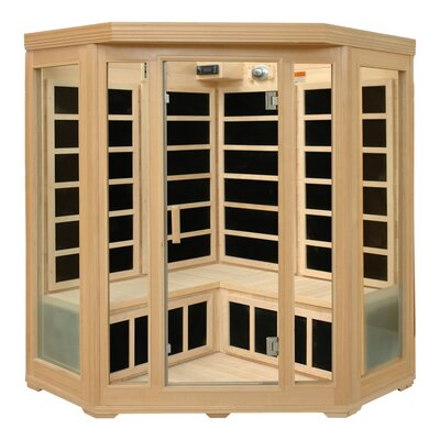 Crystal Sauna 3-4 Person Corner Infrared Sauna with Six Carbon Heaters at Sears.com