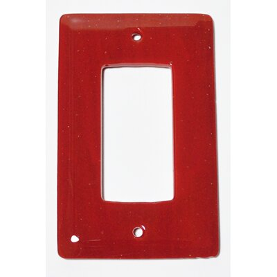 Solid 1 Gang Decora Wall Plate Color: Brick Red