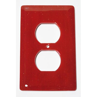 Solid 1 Gang Receptical Wall Plate Color: Brick Red
