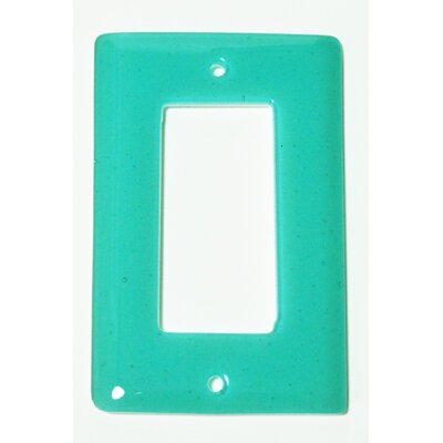 Solid 1 Gang Decora Wall Plate Color: Light Aqua Blue