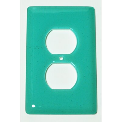 Solid 1 Gang Receptical Wall Plate Color: Light Aqua Blue