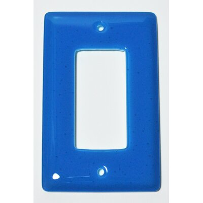 Solid 1 Gang Decora Wall Plate Color: Turquoise