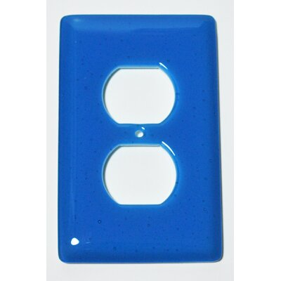 Solid 1 Gang Receptical Wall Plate Color: Turquoise