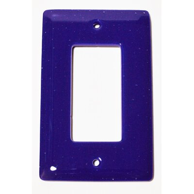 Solid 1 Gang Decora Wall Plate Color: Deep Cobalt Blue