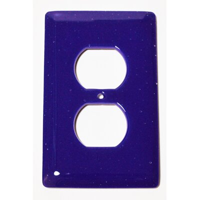 Solid 1 Gang Receptical Wall Plate Color: Deep Cobalt Blue