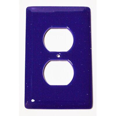 Solid 1 Gang Receptical Wall Plate Color: Deep Cobalt Blue