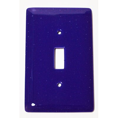 Solid 1 Gang Switch Wall Plate Color: Deep Cobalt Blue
