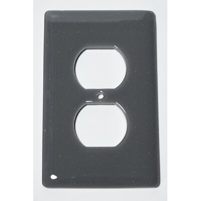 Solid 1 Gang Receptical Wall Plate Color: Deco Gray