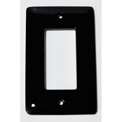 Solid 1 Gang Decora Wall Plate Color: Black
